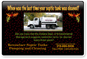 Photo of an advertisment, Renssalear Septic. Click here to contact us at Fountain Stone Theaters.